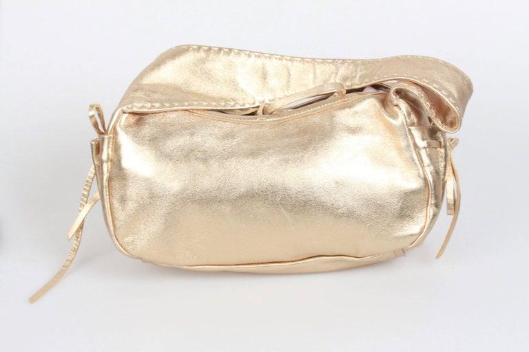 PRADA Gold Tone Leather SHOULDER BAG For Sale 1