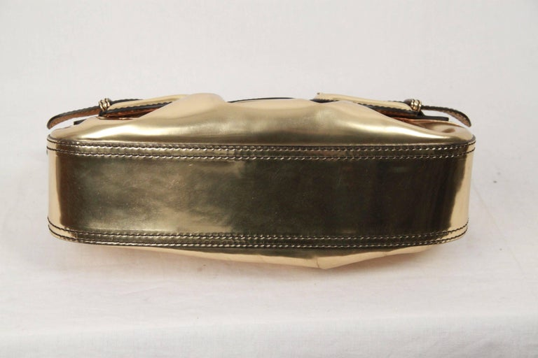 Fendi Gold Tone Leather B Bis Bag Shoulder Bag EB4ut