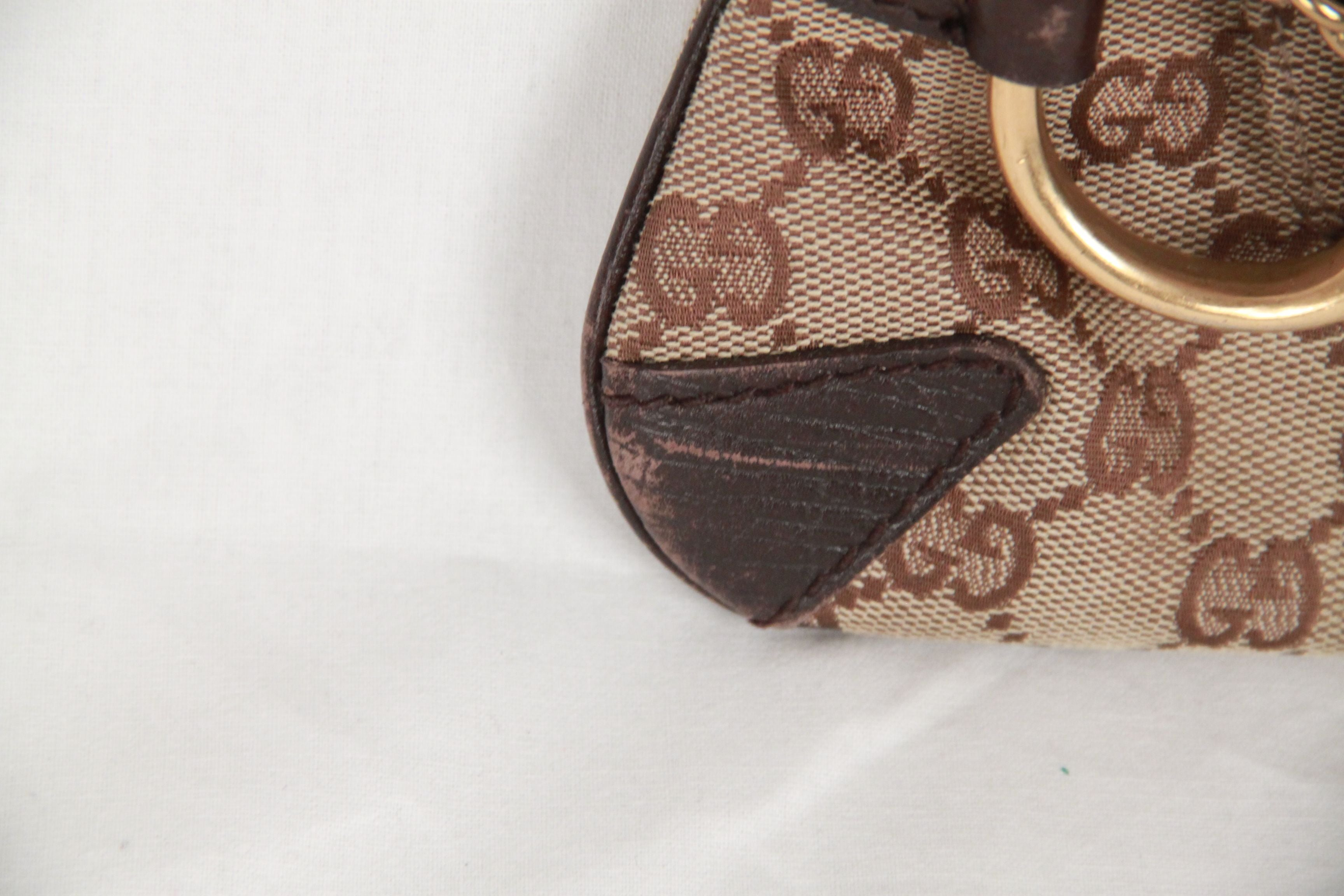 5fbd0222fbcc33 GUCCI Brown GG Monogram HORSEBIT Clutch Shoulder Bag TOM FORD ERA For Sale  at 1stdibs