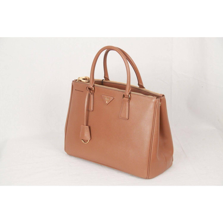 dc4093ec622e ... switzerland prada tan caramel saffiano lux leather tote satchel bn2274  in new condition for sale in