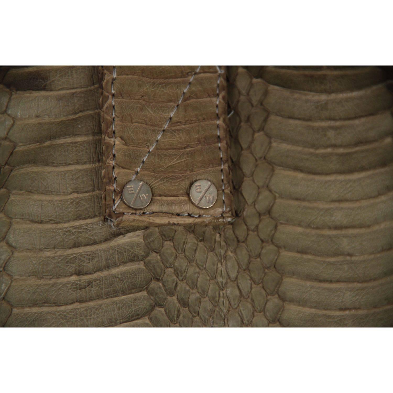 1stdibs Elizabeth Weinstock Green Whipsnake Antibe Duffle Bag PtAu0V29c