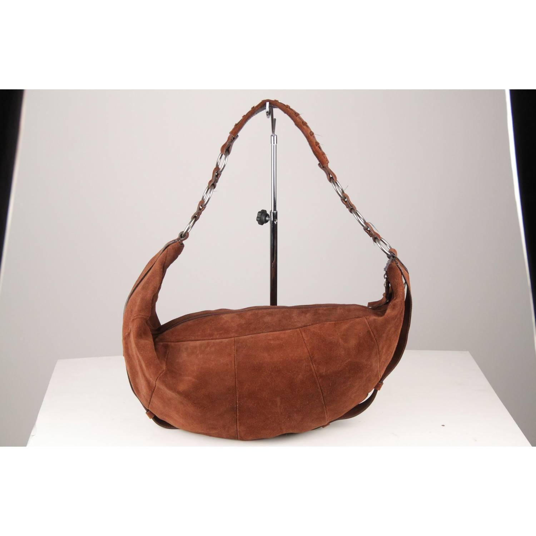 4a1e7a9b996 YVES SAINT LAURENT Brown Suede Hobo Shoulder Bag For Sale at 1stdibs