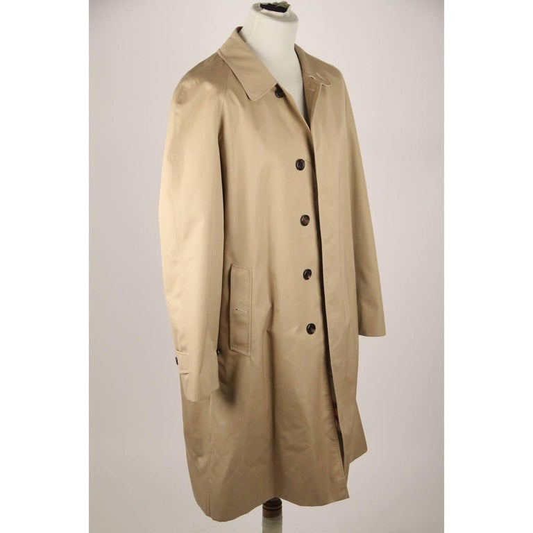 BURBERRY Tan Cotton Blend Classic Trench Coat Size 52 R In Good Condition For Sale In Rome, Rome
