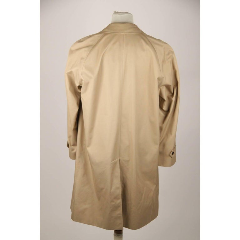 Men's BURBERRY Tan Cotton Blend Classic Trench Coat Size 52 R For Sale