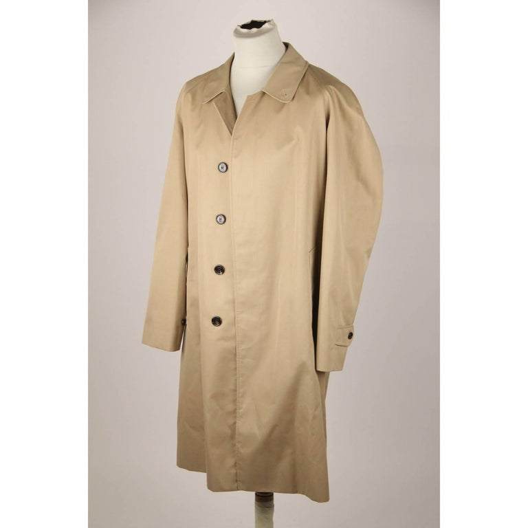 BURBERRY Tan Cotton Blend Classic Trench Coat Size 52 R For Sale 1