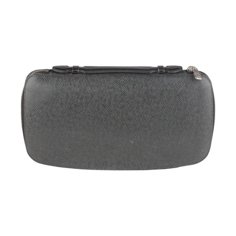 Louis Vuitton Black Taiga Leather Atoll Travel Organizer Wallet Ardoise