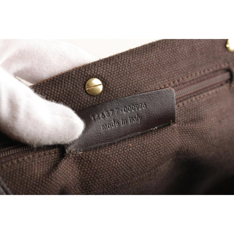 Yves Saint Laurent Brown Suede and Leather Shoulder Bag For Sale 6