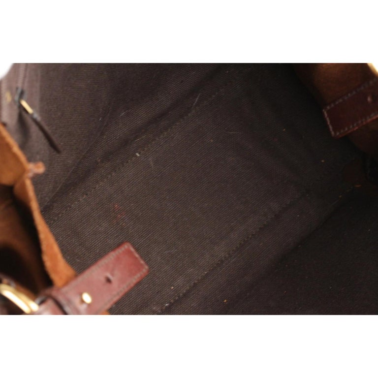 Yves Saint Laurent Brown Suede and Leather Shoulder Bag For Sale 4