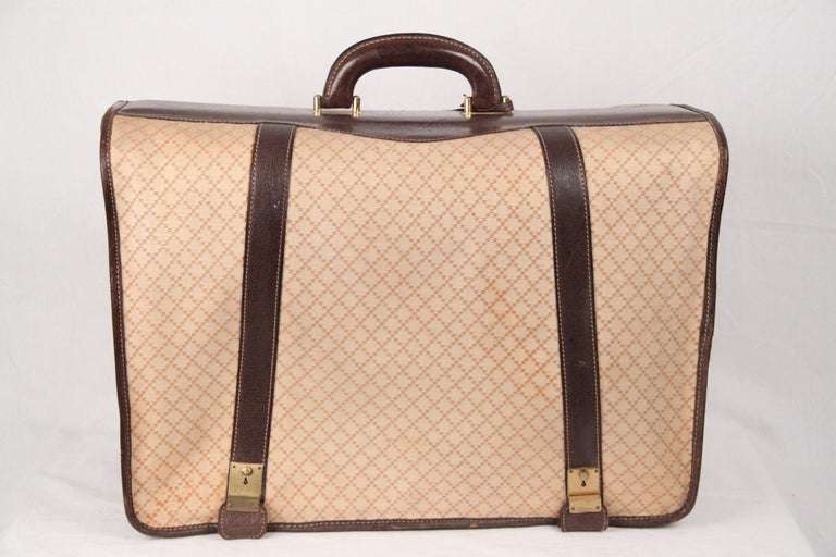 129ce893b7c80c Gucci Vintage Diamante Canvas Garment Carrier Bag Travel Suit Cover In Fair  Condition For Sale In