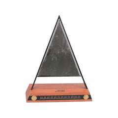 Gianni Versace Vintage 1990s Store Display Triangle Mirror Rare