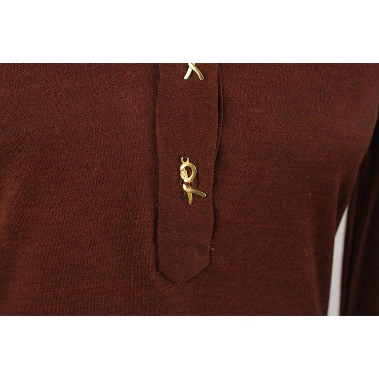a52b772f2ca90e Braunes langärmeliges Vintage Kleid von Roberta Di Camerino, Größe 46 3