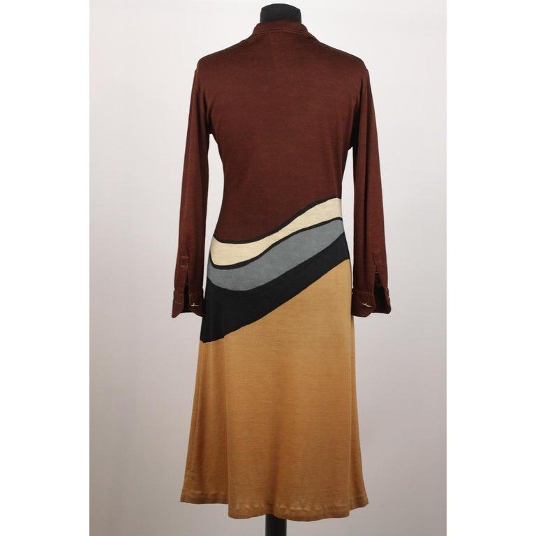 e4c887e0a0cb4a Braunes langärmeliges Vintage Kleid von Roberta Di Camerino, Größe 46 5