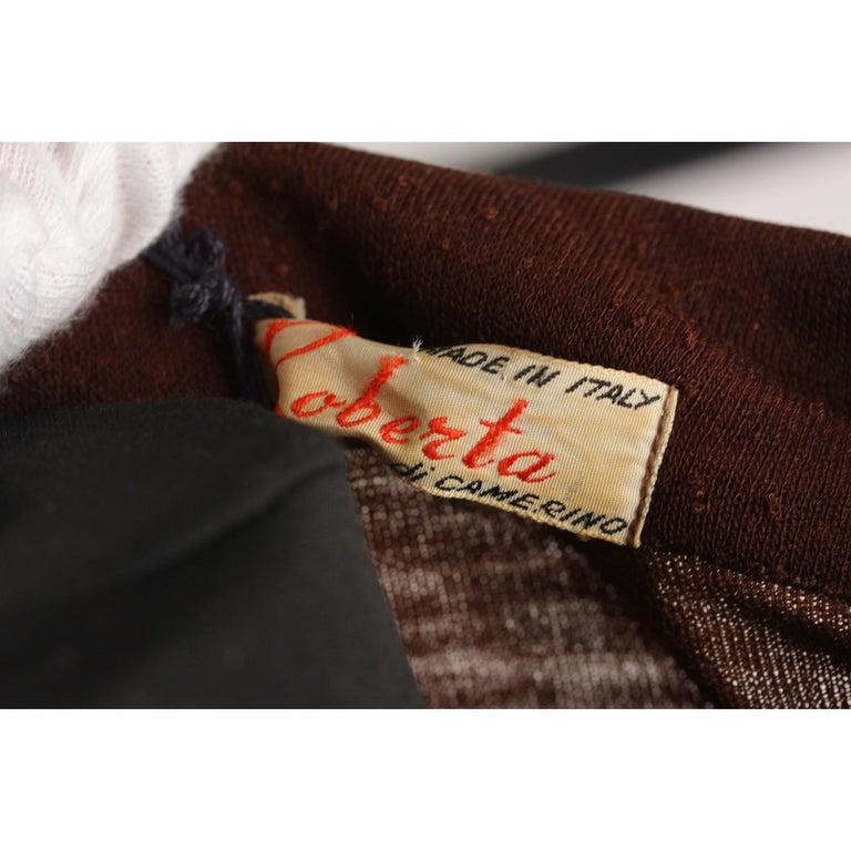 b6f95972ce7966 Braunes langärmeliges Vintage Kleid von Roberta Di Camerino, Größe 46 8