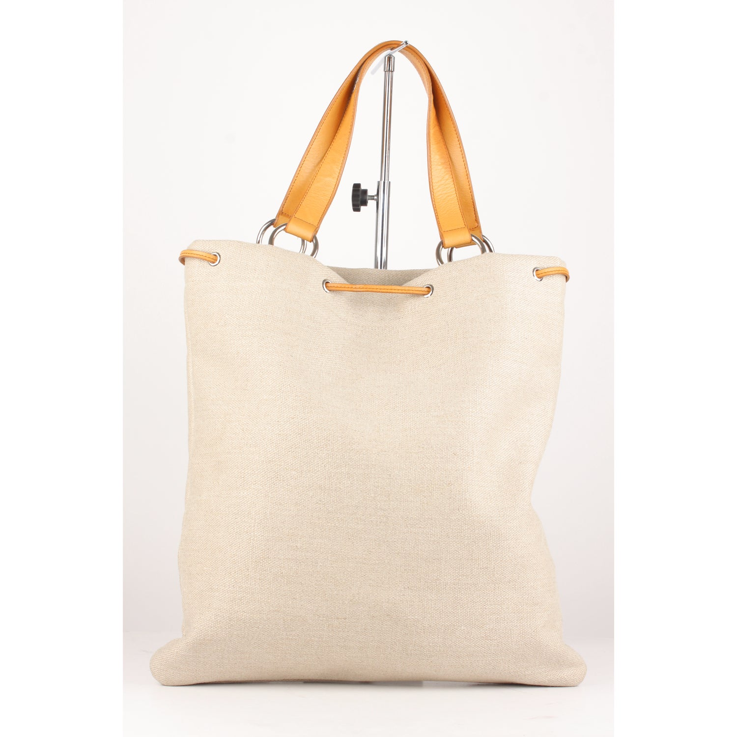 Yves Saint Laurent Tan Canvas and Leather Hearts Tote Bag at 1stdibs dabd24f32fe91