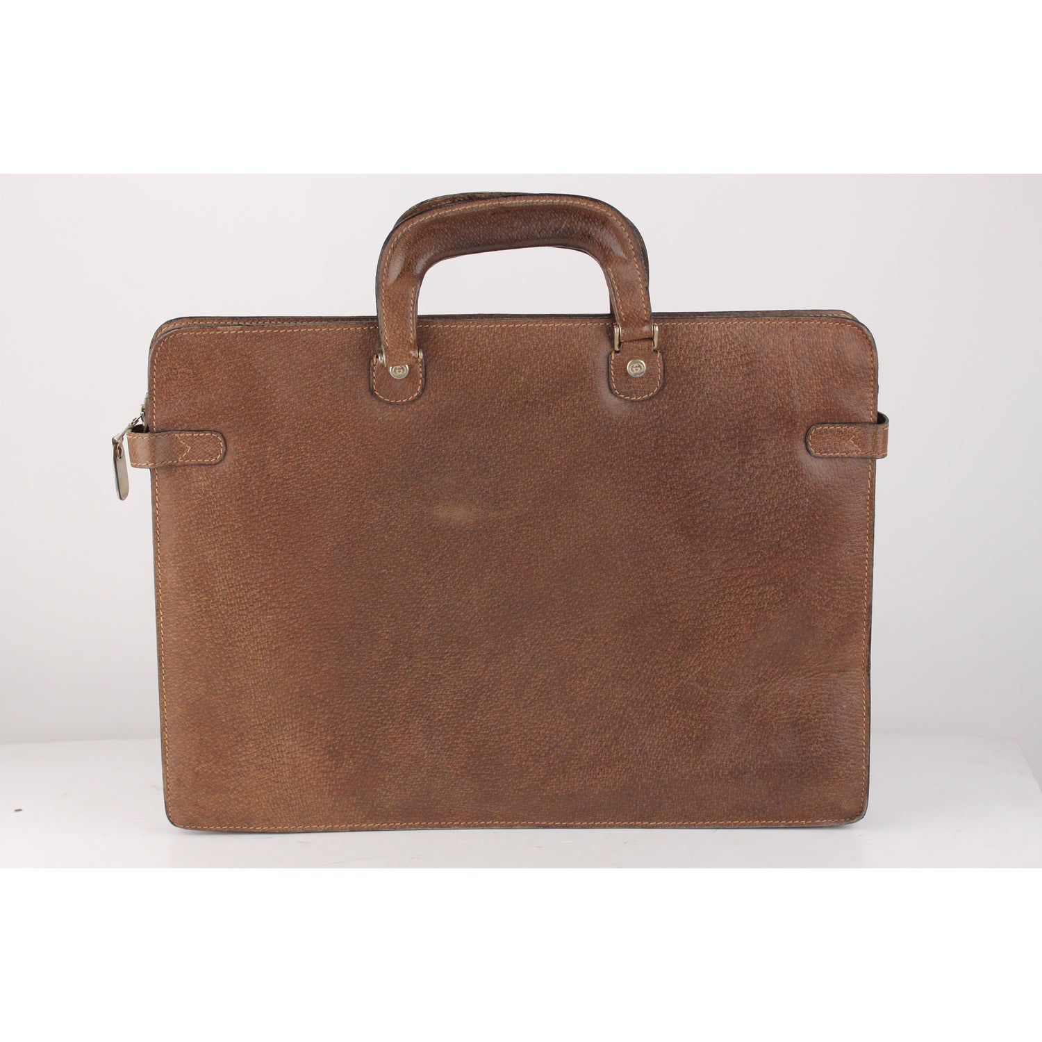 a373e428b Gucci Vintage Tan Leather Briefcase Work Business Bag at 1stdibs