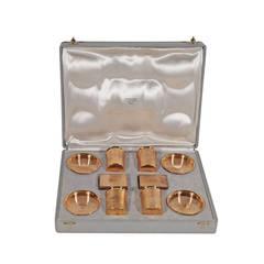 HERMES Vintage SMOKING SET Ashtrays Cigarette Holders Matchboxes w/ BOX