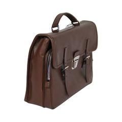 PRADA Authentic Brown SAFFIANO Leather Cartella BRIEFCASE Satchel VR0076