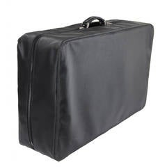 VALEXTRA Black Leather COSTA 75 SUITCASE Luggage w/ Protective Cover