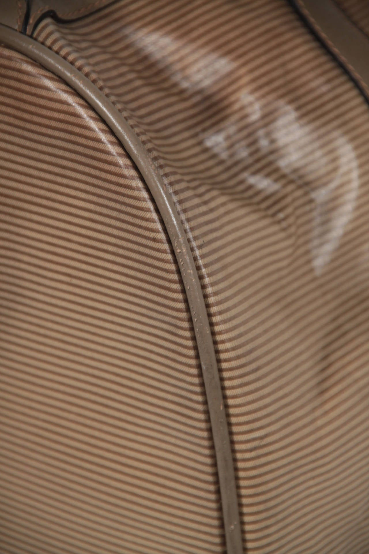 yves saint laurent tan striped vinyl canvas weekender overnight travel bag as56 for sale at 1stdibs