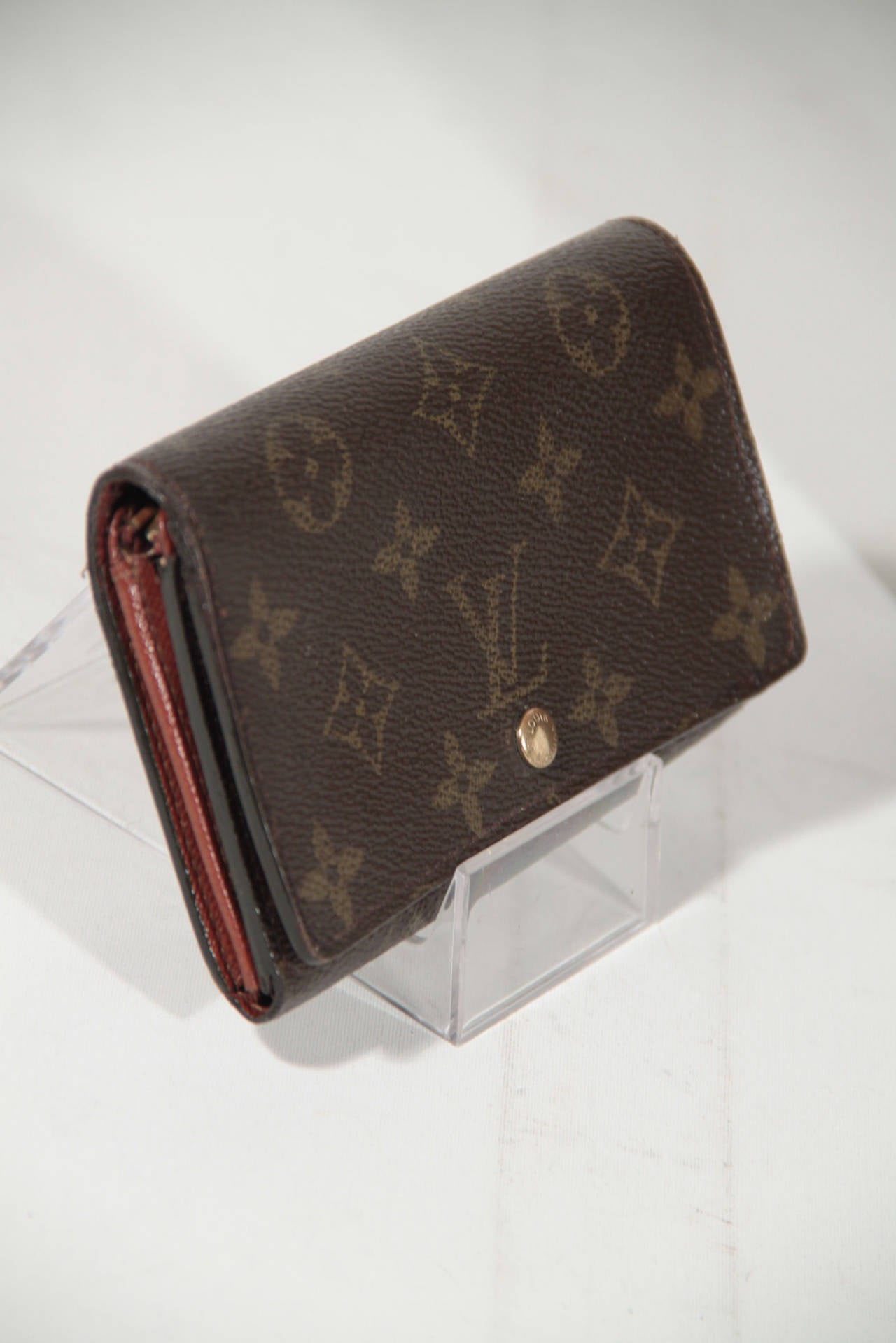 Gucci Belt Serial Number >> LOUIS VUITTON Monogram Canvas TRESOR WALLET Coin Purse w/ BOX at 1stdibs