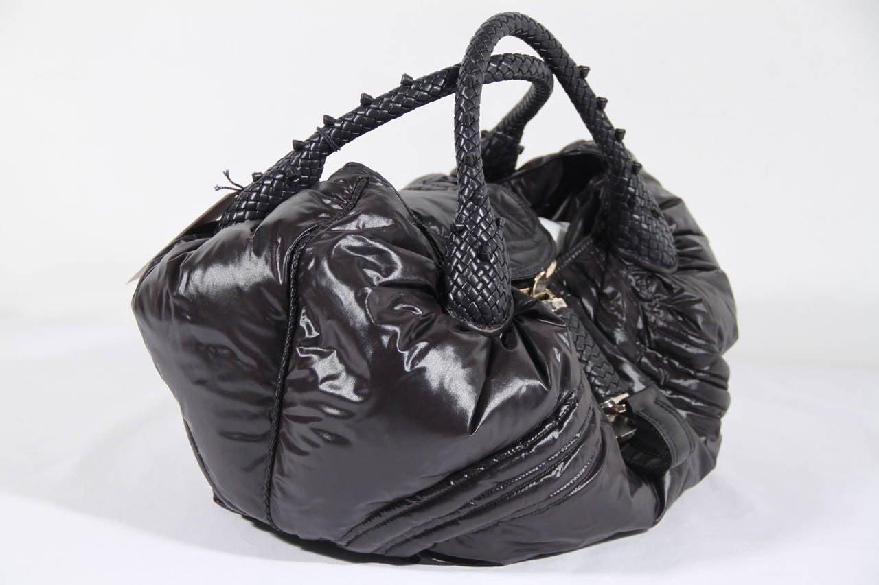 591f93ffaf66 FENDI LIMITED EDITION Black Nylon MONCLER SPY BAG Handbag HOBO For ...