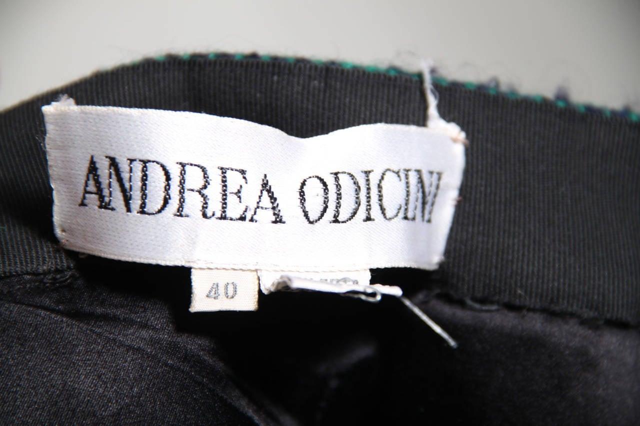 ANDREA ODICINI Italian VINTAGE Green Tweed SUIT Coat & Skirt SET Sz 40 IT For Sale 5