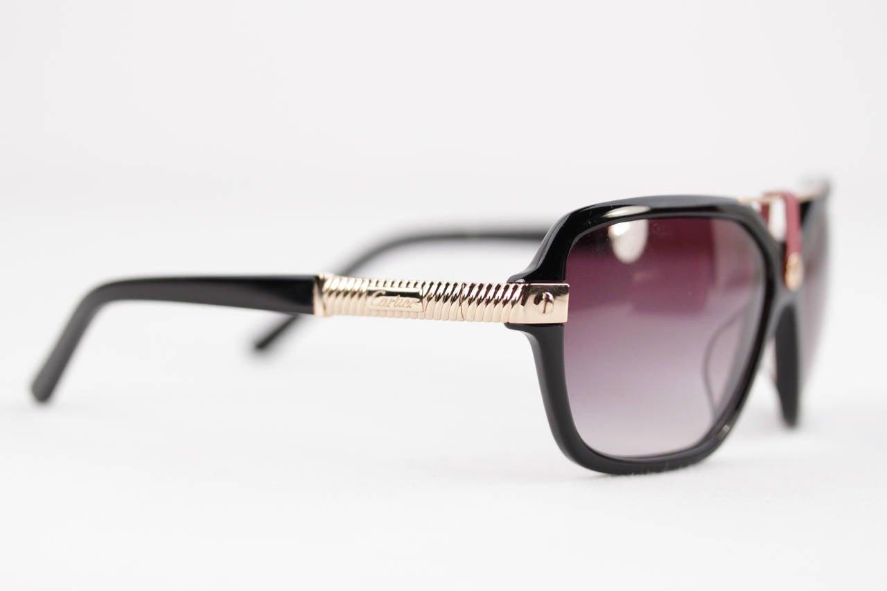 dc5a922681d Cartier Sunglasses Men Red Vintage