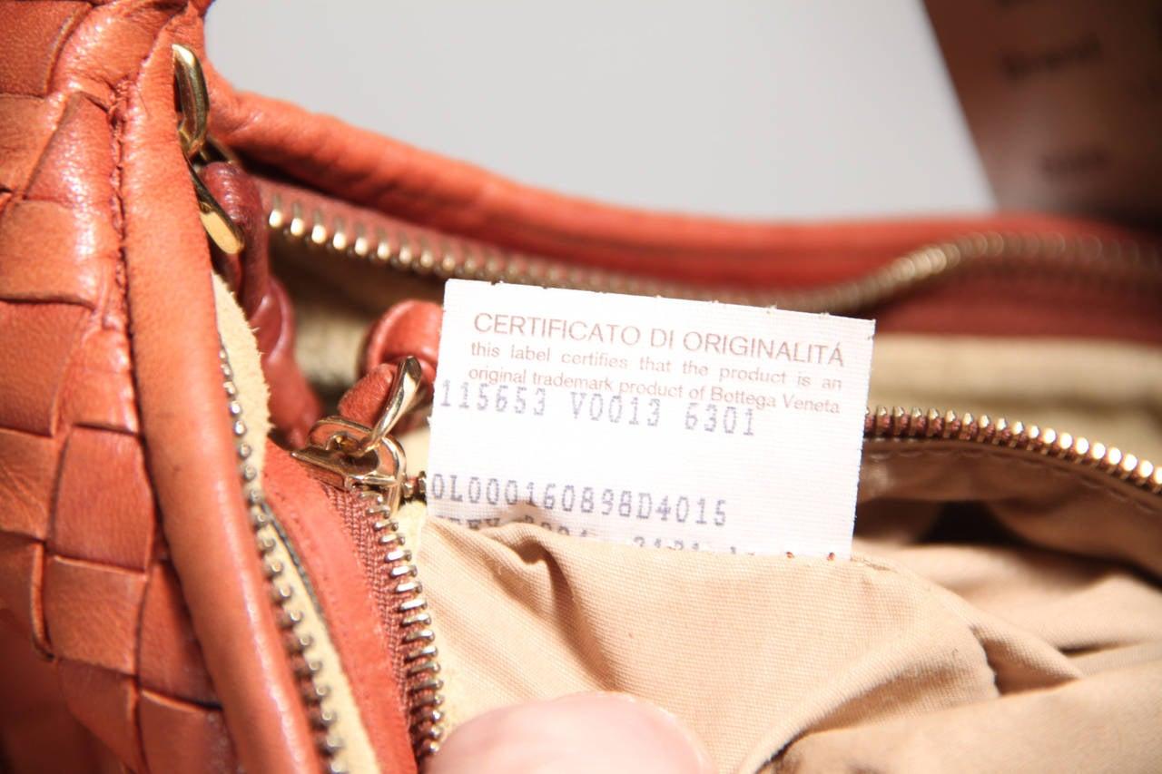 d07378e05a80 BOTTEGA VENETA Italian Authentic Tan INTRECCIATO Woven Leather HOBO HANDBAG  AS For Sale 5