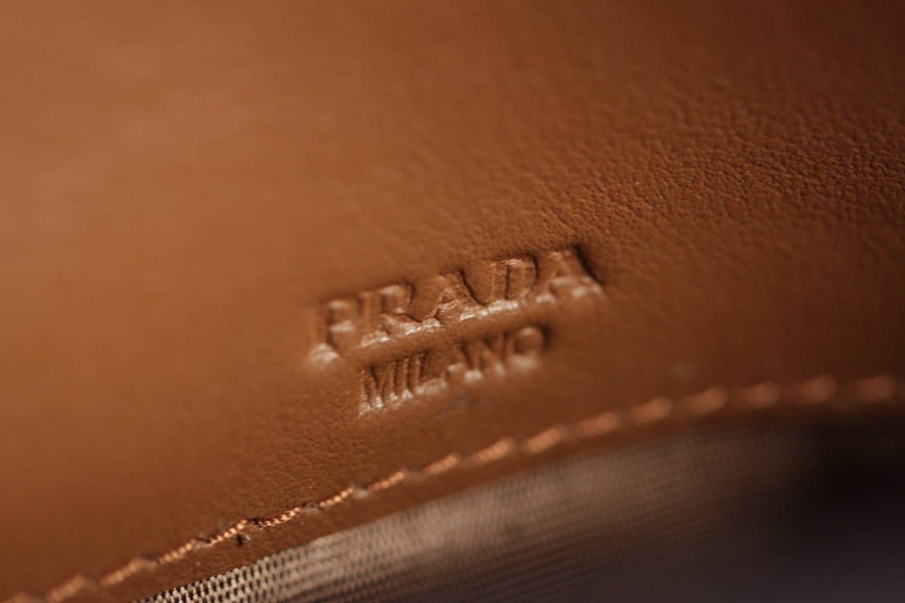 bc52d14c3170 PRADA Tan CANNELLA Soft Calf QUILTED Leather CHAIN WALLET Purse 1M1290 w/  BOX For Sale