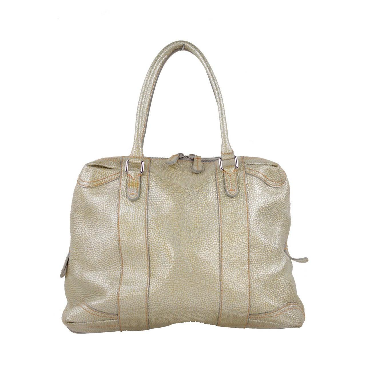 dd4a3ff7c07a FENDI Italian Golden Pebbled Leather B MIX TOTE Large Handbag SATCHEL For  Sale