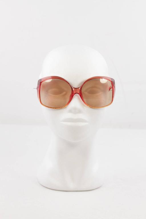 CHRISTIAN DIOR VINTAGE Oversized SUNGLASSES 2041 30 OPTYL Brown Lens eyewear MY 8