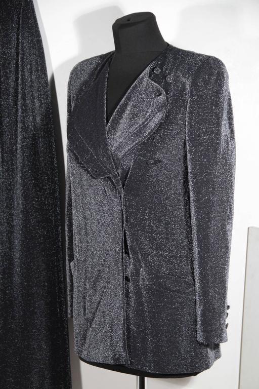 Giorgio Armani Black Label Lurex Women Suit Dress Blazer