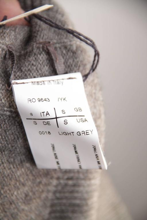 RICK OWENS Gray Wool CROPPED JUMPER Long Sleeve SWEATER Mountain F/W 12 Sz S  For Sale 6