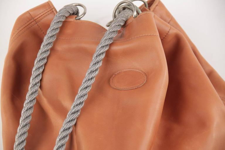 GRANATA SELLERIA Tan Leather OVERSIZED SAILOR BAG Duffel Weekender TRAVEL 2