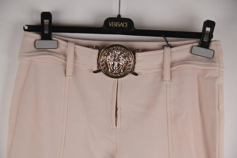 VERSACE Pink Stretch Wool TROUSERS Pants MEDUSA 2005 Fall Collection Sz 40 IT 3