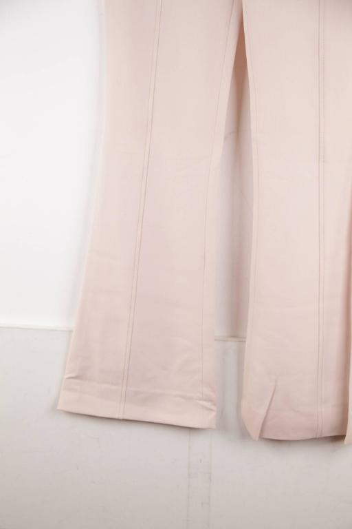 VERSACE Pink Stretch Wool TROUSERS Pants MEDUSA 2005 Fall Collection Sz 40 IT 8