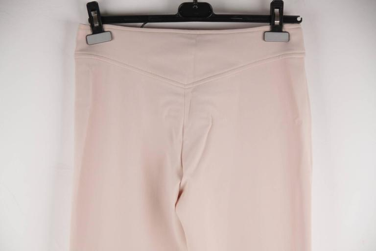 VERSACE Pink Stretch Wool TROUSERS Pants MEDUSA 2005 Fall Collection Sz 40 IT 7