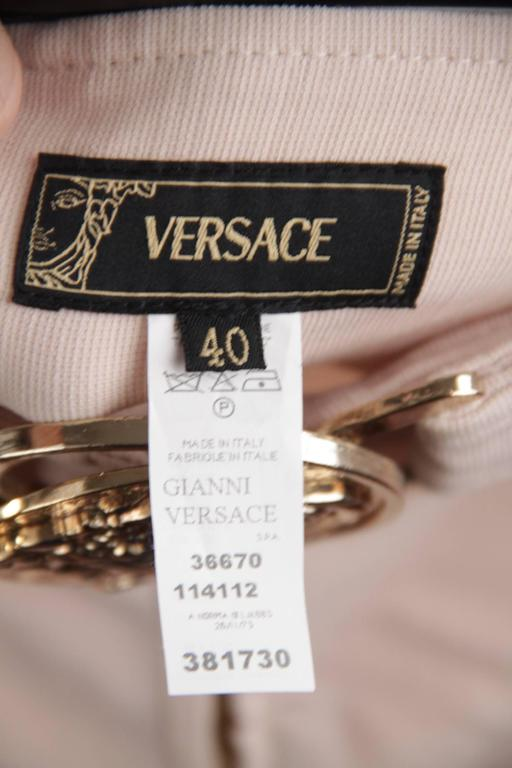 VERSACE Pink Stretch Wool TROUSERS Pants MEDUSA 2005 Fall Collection Sz 40 IT 5