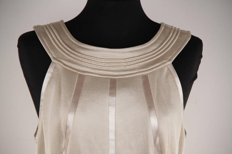 VERSACE Italian Beige HALTER SHIFT DRESS 2006 Fall Collection Sz 42 IT  In New Condition For Sale In Rome, Rome