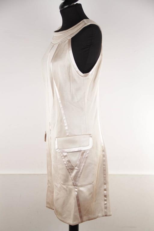VERSACE Italian Beige HALTER SHIFT DRESS 2006 Fall Collection Sz 42 IT  For Sale 1