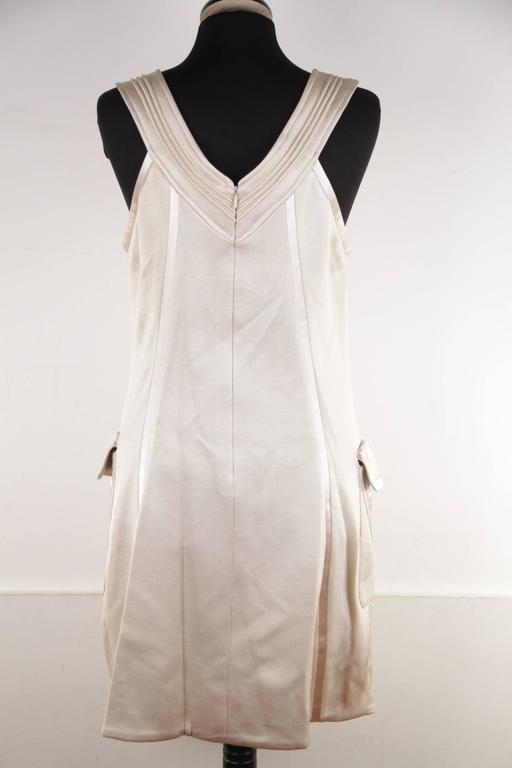 VERSACE Italian Beige HALTER SHIFT DRESS 2006 Fall Collection Sz 42 IT  For Sale 2