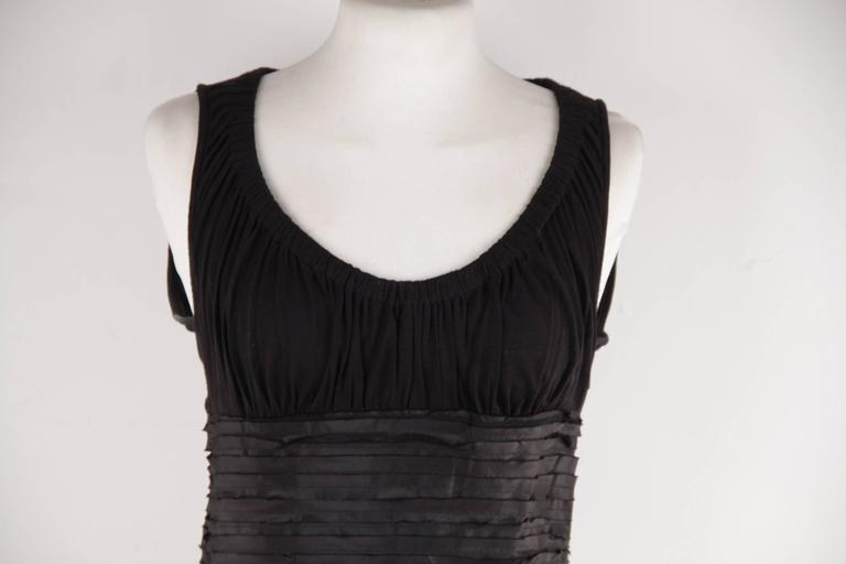 VERSACE Black Viscose & Silk LITTLE BLACK DRESS Sheath SLEEVELESS Sz 40  3