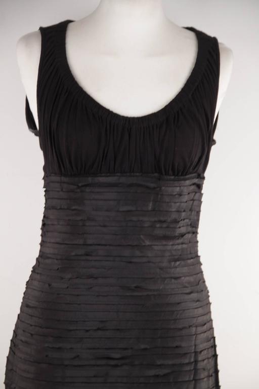 VERSACE Black Viscose & Silk LITTLE BLACK DRESS Sheath SLEEVELESS Sz 40  4