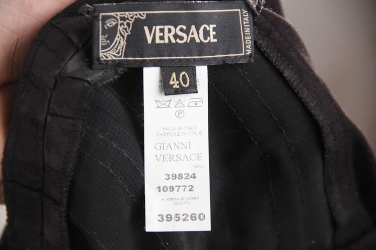 VERSACE Black Viscose & Silk LITTLE BLACK DRESS Sheath SLEEVELESS Sz 40  10