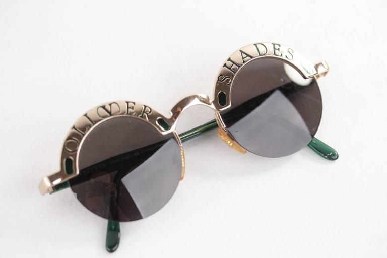 OLIVER SHADES Green/Gold Round SUNGLASSES 1803 933 48/20 135 eyewear w/CASE 7