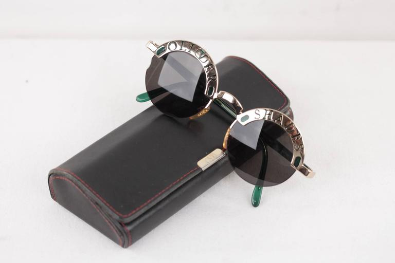 OLIVER SHADES Green/Gold Round SUNGLASSES 1803 933 48/20 135 eyewear w/CASE For Sale 5