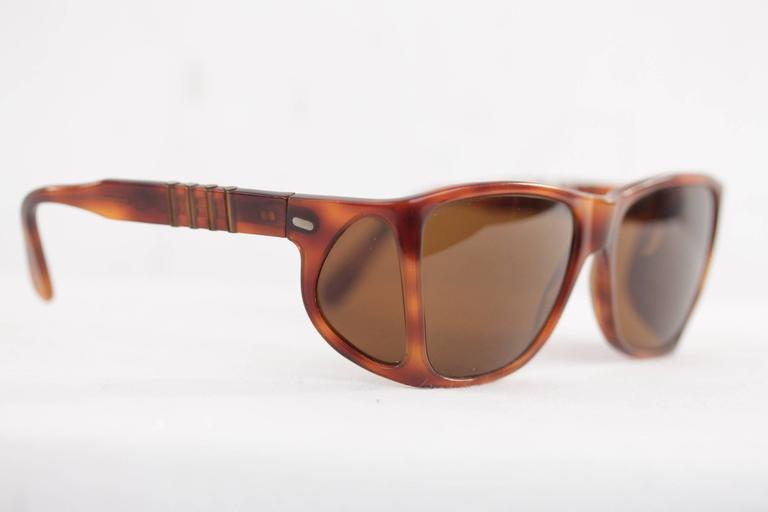 Sunglasses With Side Shields  persol meflecto ratti vintage brown sunglasses with side shields w