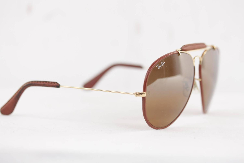 944a668246 Ray Ban Leather Outdoorsman Aviator Sunglasses « Heritage Malta