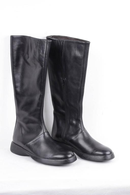 italian black leather boots shoes w rubber sole