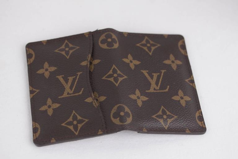 louis vuitton brown monogram canvas pocket organiser id credit card holder w  box at 1stdibs
